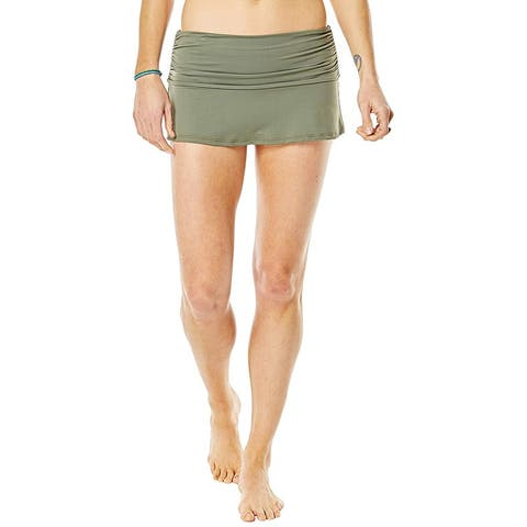 CARVE Designs Womens Swimwear Green Size XL Playa Solid Swim Skirt
