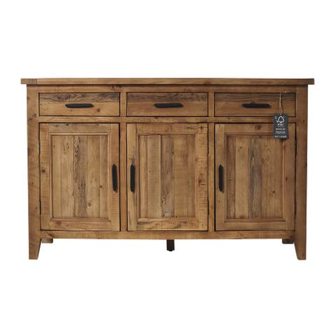 """Ashford 55 in. Large Sideboard with 3-Drawer and 3-Door - 55""""L x 18""""W x 35""""H"""