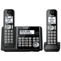 Panasonic KX-TG3752B Cordless Phone With Handset Cordless Phone with Answering Machine - 2 Handsets