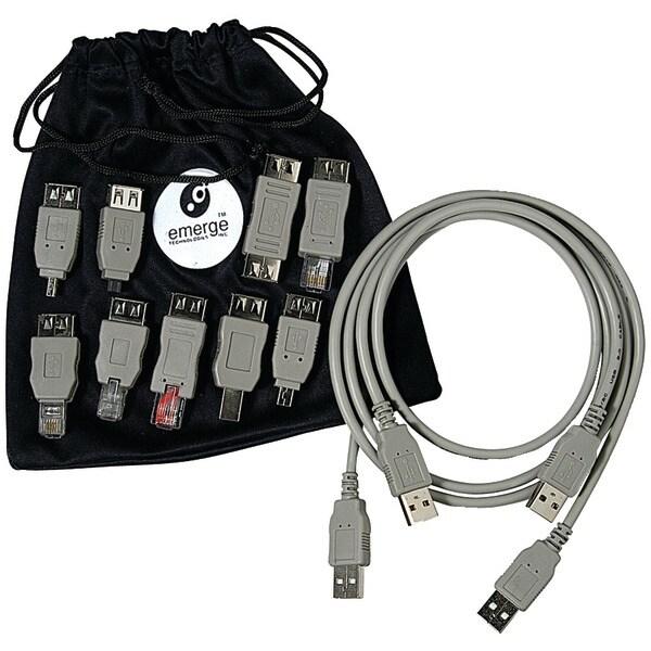 Retrak-Emerge Etcablekit6 Usb 2.0 Universal Cable Adapter Kit