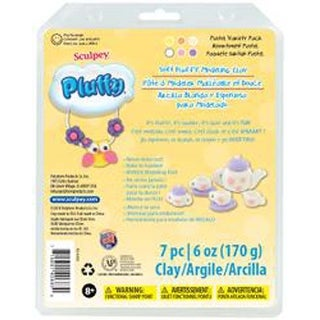 Pastel - Sculpey Pluffy Clay 1Oz 6/Pkg