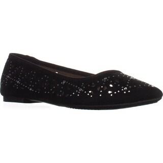 Rialto Shay Pointed Toe Ballet Flats, Black