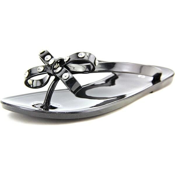 143 Girl Olieah Women Open Toe Synthetic Black Flip Flop Sandal