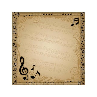 """Easy Peasy Page Layout W/3D Design 12""""X12""""-Music"""