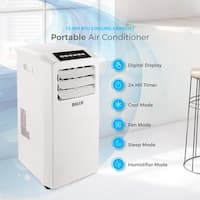 DELLA Air Conditioner Cooling Fan 10000 BTU Portable Dehumidifier A/C Remote Control Included Window Vent Kit White