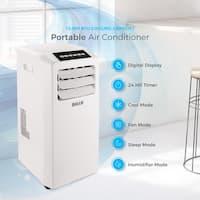 DELLA Air Conditioner Cooling Fan 10000 BTU Portable Dehumidifier A/C Remote Control Included Window Vent Kit White