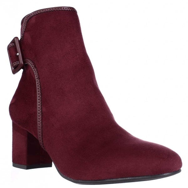 White Mountain Callaway Buckle Ankle Boots, Vino
