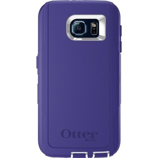Otterbox Defender Series Case for Samsung Galaxy S6, Retail Packaging, White/ Purple
