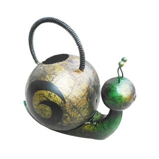 Offex Handmade Iron Multi Color Snail Watering Can - N/A
