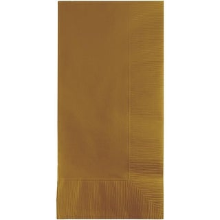 """Club Pack of 600 Glittering Gold Premium 2-Ply Disposable Dinner Napkins 8"""""""