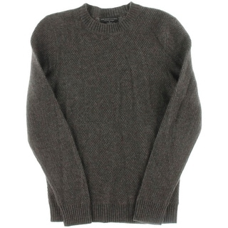 Private Label Mens Cashmere Textured Crewneck Sweater - S