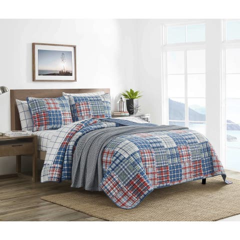 Nautica Raeford Cotton Blue Quilt Set