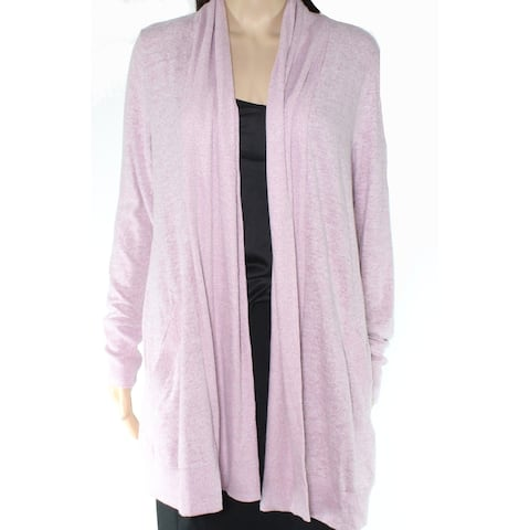 Gibson Womens Sweater Medium Cardigan Open Front Ribbed