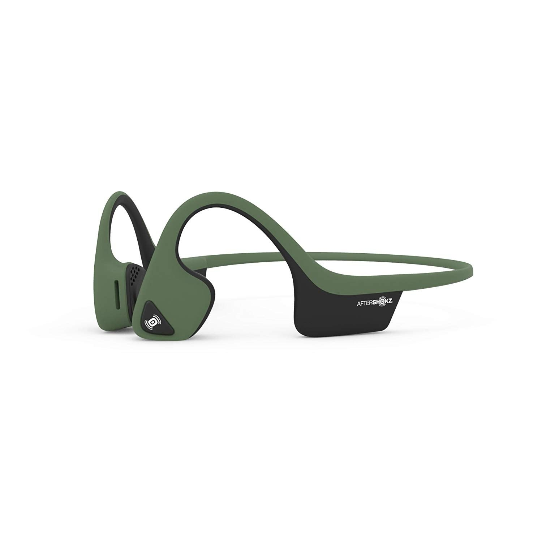 031649c35b8 AfterShokz Trekz Air Open Ear Wireless Bone Conduction Headphones (Green)