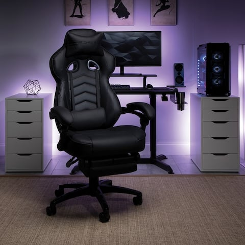 Respawn 110 Racing Style Reclining Gaming Chair with Footrest