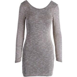Speechless Womens Juniors Metallic Long Sleeves Party Dress - 9