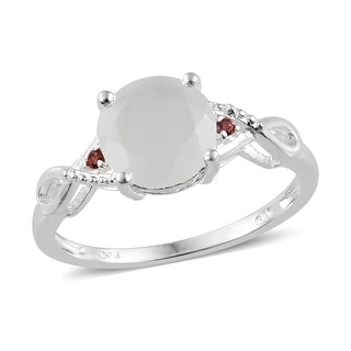 Link to Sterling Silver Moonstone Cubic Zircon Statement Ring Ct 2.32 Similar Items in Necklaces