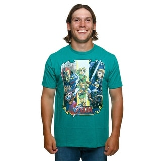 Men's Legend Of Zelda Retro Art T-Shirt