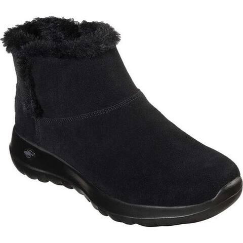 Skechers Women's On the GO Joy Bundle Up Ankle Boot Black/Black