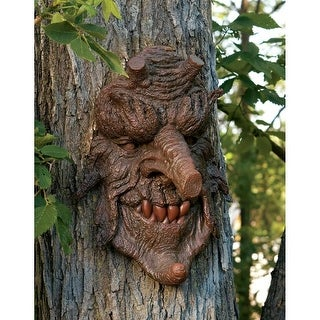 Design Toscano Halloween Poison Oak Greenman Tree Sculpture