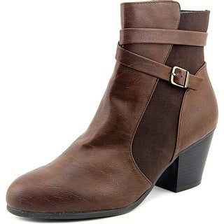 A2 By Aerosoles Invitation Women W Pointed Toe Synthetic Brown Ankle Boot