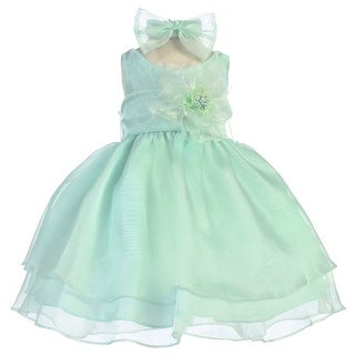 Baby Girls Mint Layered Organza Flower Girl Dress 6-24M