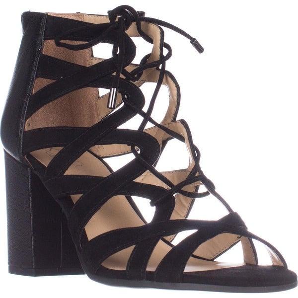 Franco Sarto Meena Heeled lace-up Sandals, Black