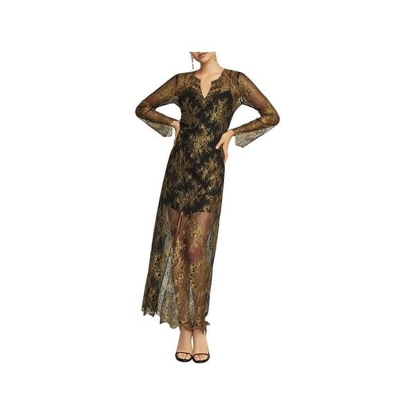 e16f1a5b9 Shop BCBG Max Azria Womens Olivia Evening Dress Lace Metallic - Free ...