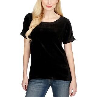 Lucky Brand Velvet Contrast Top Shirt - l