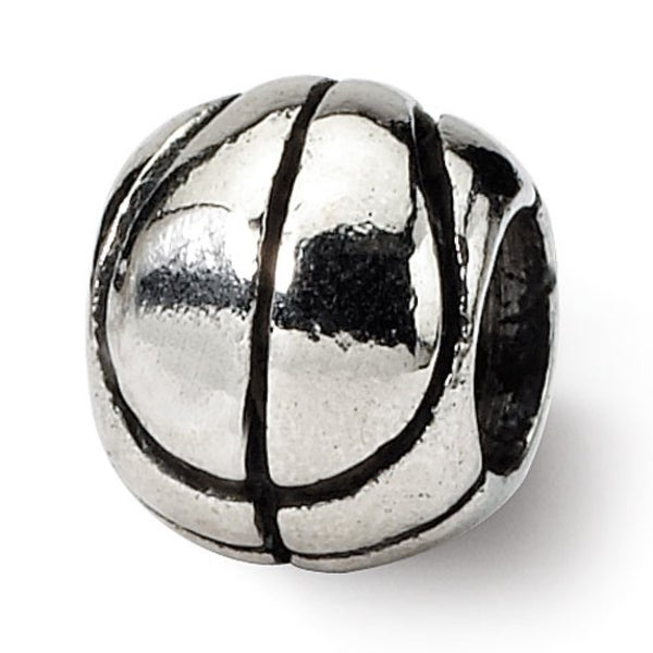 Sterling Silver Reflections Kids Basketball Bead (4mm Diameter Hole)