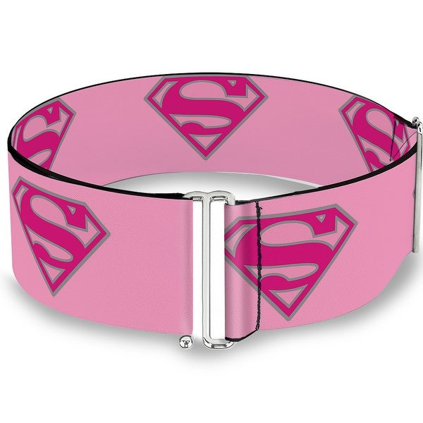 Superman Shield Pink Cinch Waist Belt ONE SIZE