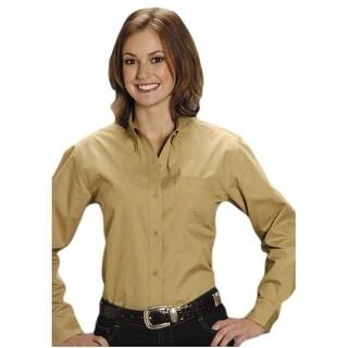 Roper Western Shirt Womens L/S Amarillo Khaki 03-050-0366-0034 KH