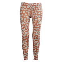 Girls Stretchy Leggings Trousers Pink Daisy