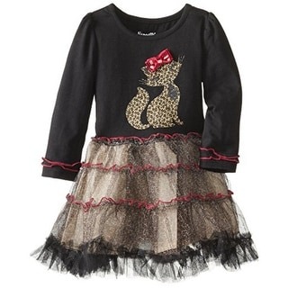 Nannette Girls Toddler Cheetah Print Casual Dress - 4T