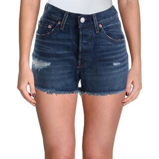 Levi's Womens 501 Cutoff Shorts Denim Destroyed - Silverlake
