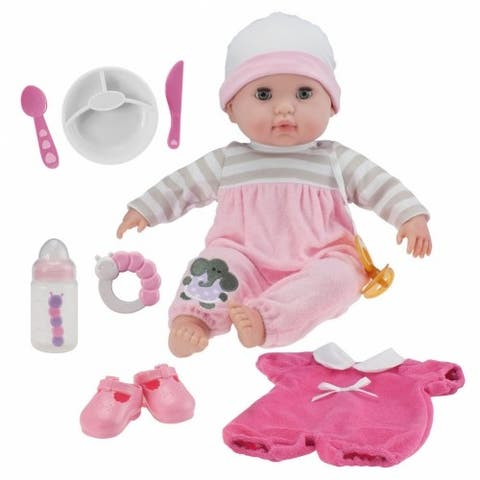 """Nonis 15"""" Deluxe Baby Doll Set - Pink"""