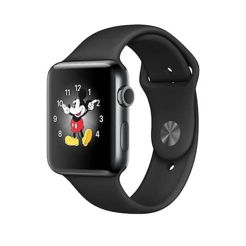Apple Watch Series 2 38mm Black Stainless Steel Case & Black Band (Refurbished)