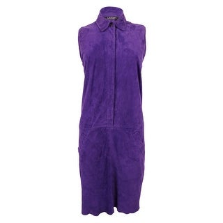 Lauren Ralph Lauren Women's Shift Suede Dress - Purple