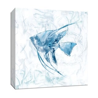 """PTM Images 9-147936  PTM Canvas Collection 12"""" x 12"""" - """"Blue Marble Tropical Fish"""" Giclee Sea Animals Art Print on Canvas"""
