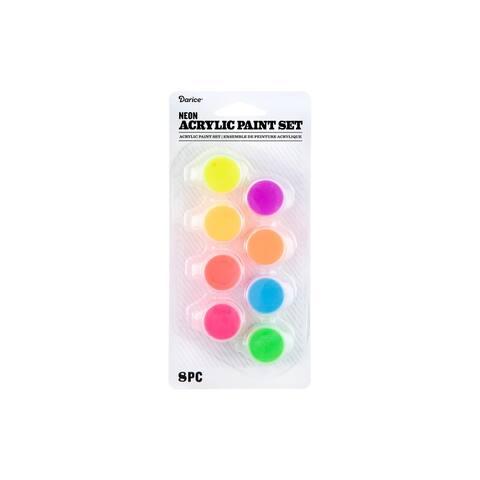 30074342 darice paint pot acrylic neon 8pc