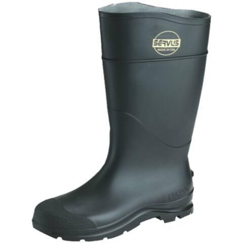 Servus 18822-6 Non-Insulated Mens CT Hi-Knee Boot, Black, Size 6