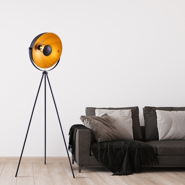 """Archiology 63"""" Retro Industry Tripod Floor Lamp - Black/Gold. Opens flyout."""