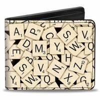 Scrabble Logo Grays Reds Blues White Bi Fold Wallet - One Size Fits most