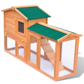 Link to vidaXL Outdoor Large Rabbit Hutch Small Animal House Pet Cage Wood Similar Items in Small Animal Cages & Habitats