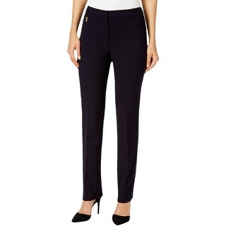 Tahari ASL Womens Dress Pants Flat Front Hook/Bar Zip Fly