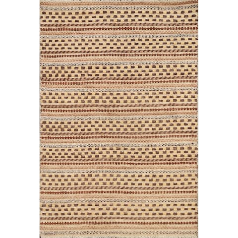 "Gabbeh Kashkoli Oriental Area Rug Wool Hand-knotted Modern Carpet - 2'10"" x 3'11"""
