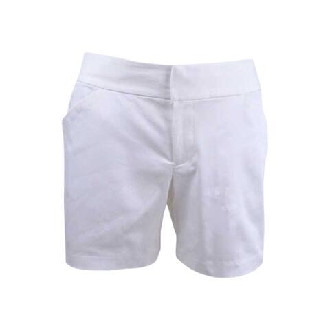 INC International Concepts Women's Cotton-Blend Shorts (2, Bright White) - Bright White - 2