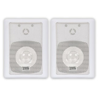 Acoustic Audio AA151W Indoor Outdoor 2 Way Speakers White Mountable Pair
