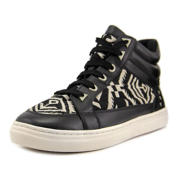 Bronx Zoo Nee Women Round Toe Canvas Black Sneakers