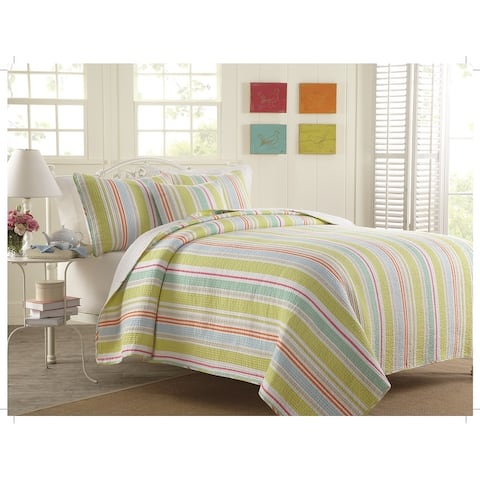 Gouchee Home William Quilt Set Twin Lime